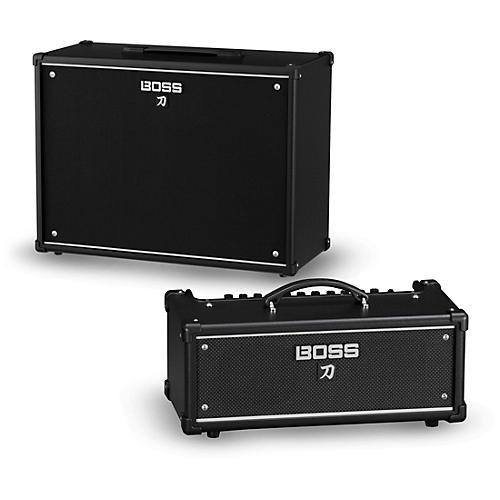 Boss Katana KTN-Head 100W Guitar Amplifier Head and 212 150W 2x12 Cabinet