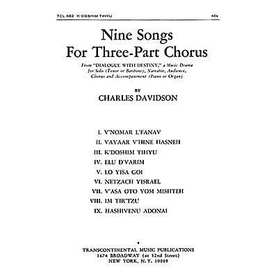 Transcontinental Music K'doshim Tih'yu SAB composed by Charles Davidson