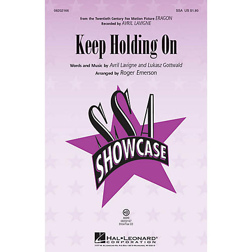 Hal Leonard Keep Holding On ShowTrax CD by Avril Lavigne Arranged by Roger Emerson