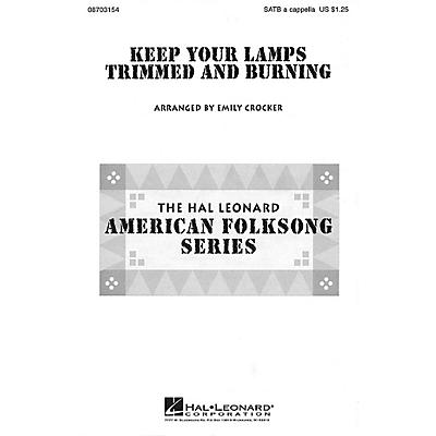 Hal Leonard Keep Your Lamps Trimmed and Burnin' SATB a cappella arranged by Emily Crocker