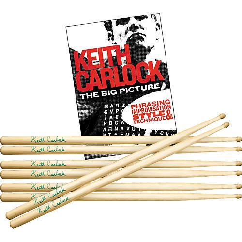 Hal Leonard Keith Carlock Drumstick DVD Pack with Free Pair of Sticks