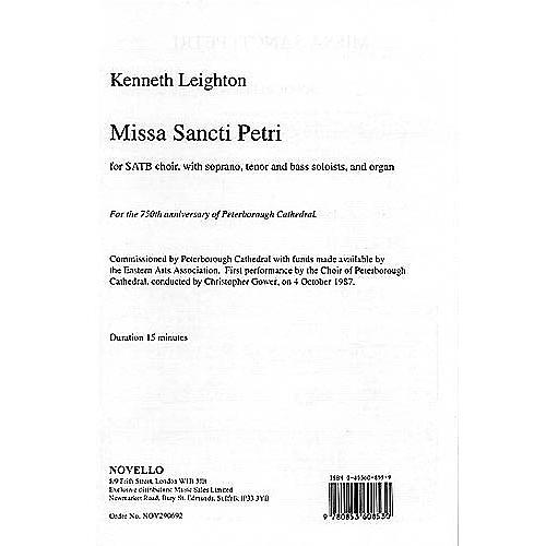 Music Sales Kenneth Leighton: Missa Sancti Petri Music Sales America Series