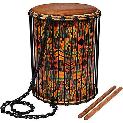 X8 Drums Kente Cloth Dundun with Sticks