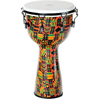 X8 Drums Kente Cloth Key-Tuned Djembe with Synthetic Head