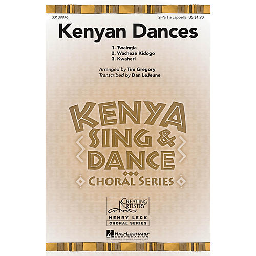Hal Leonard Kenyan Dances 2PT/SOLO AC arranged by Tim Gregory