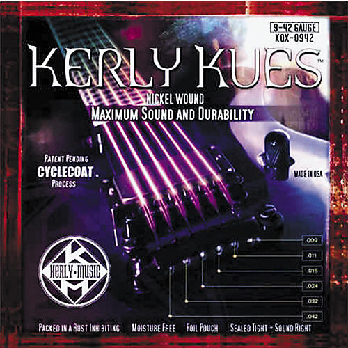 Kerly Music Kerly Kues Nickel Wound Electric Guitar Strings - Light