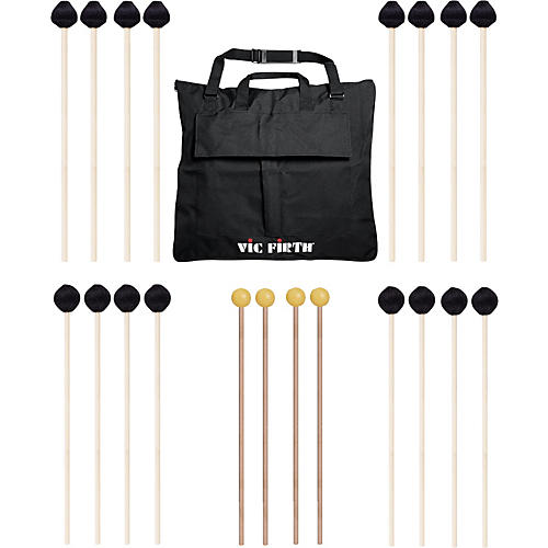 Vic Firth Keyboard Mallet 10-Pack w/ Free Mallet Bag - M182(4), M188(4) ,M134(2)