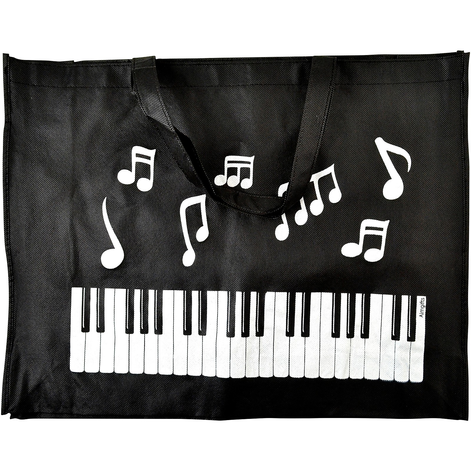 AIM Keyboard Notes Reusable Black Tote Bag