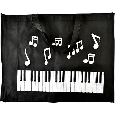 AIM Keyboard Notes Reusable Black Tote Bag
