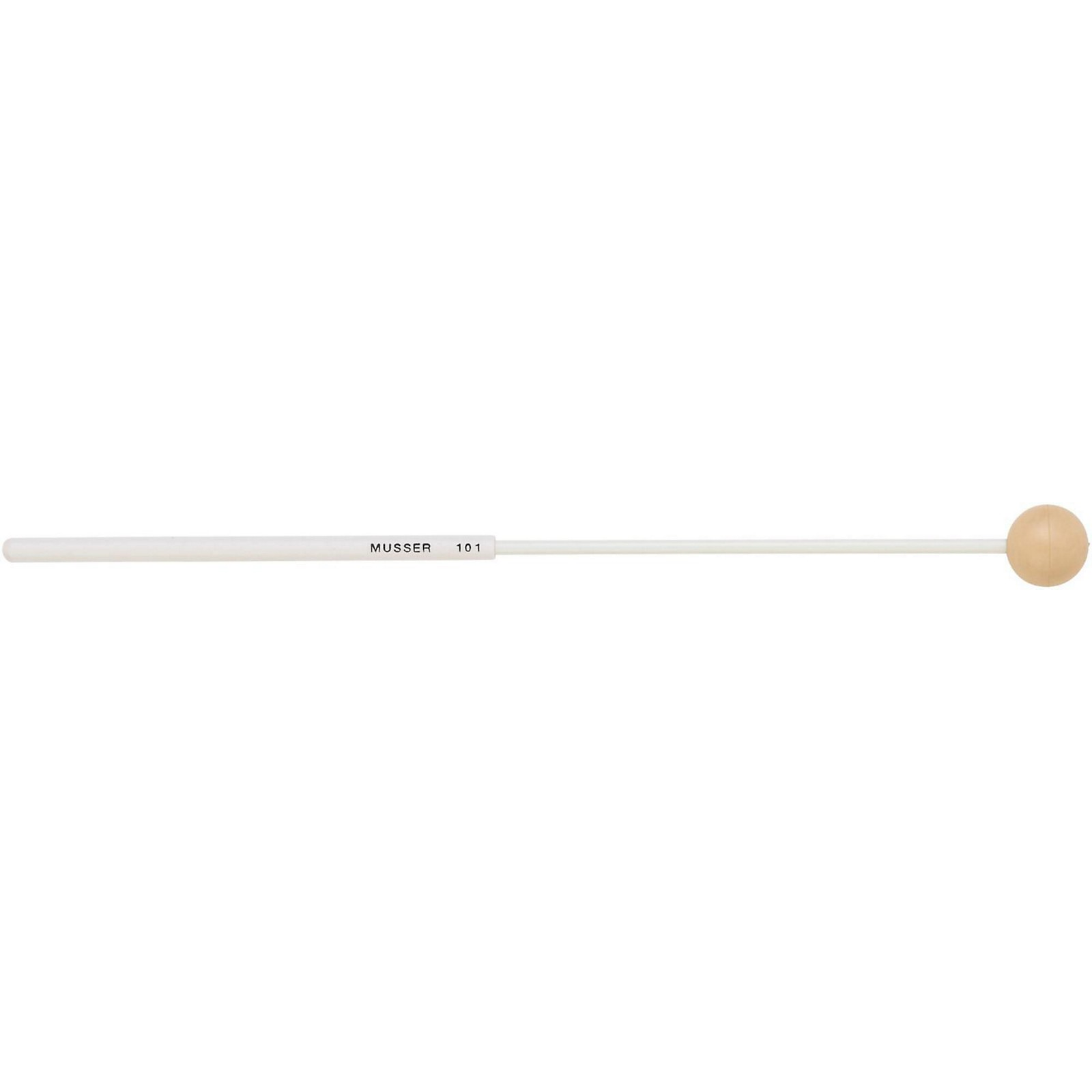 Musser Keyboard Soft Mallet with Two Step Handle-Tan Rubber Ball