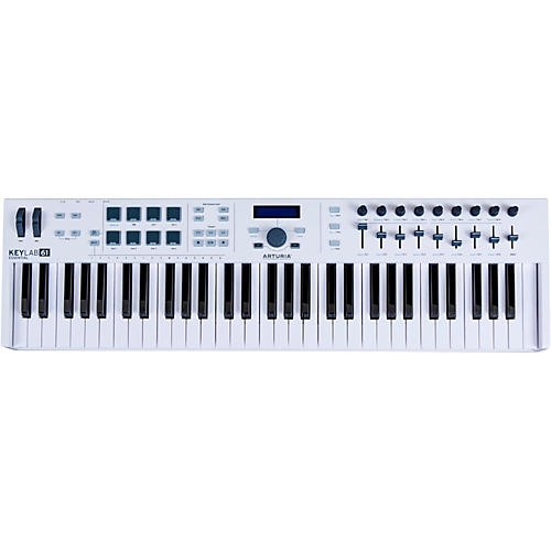 Arturia KeyLab Essential 61 MIDI Keyboard Controller White Condition 1 - Mint