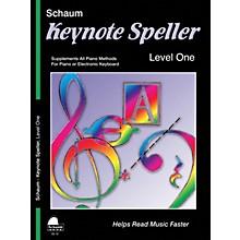 SCHAUM Keynote Speller Level 1 Educational Piano Book by John W. Schaum (Level Elem)