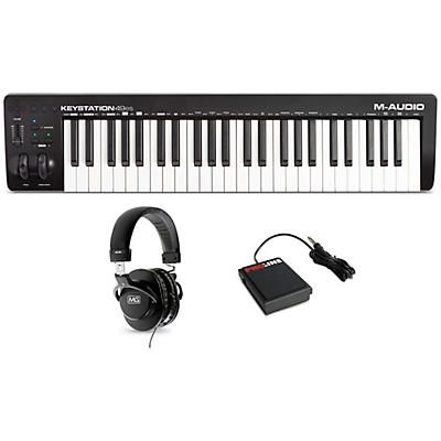 M-Audio Keystation 49es MK3 Controller With Sustain Pedal and Headphones