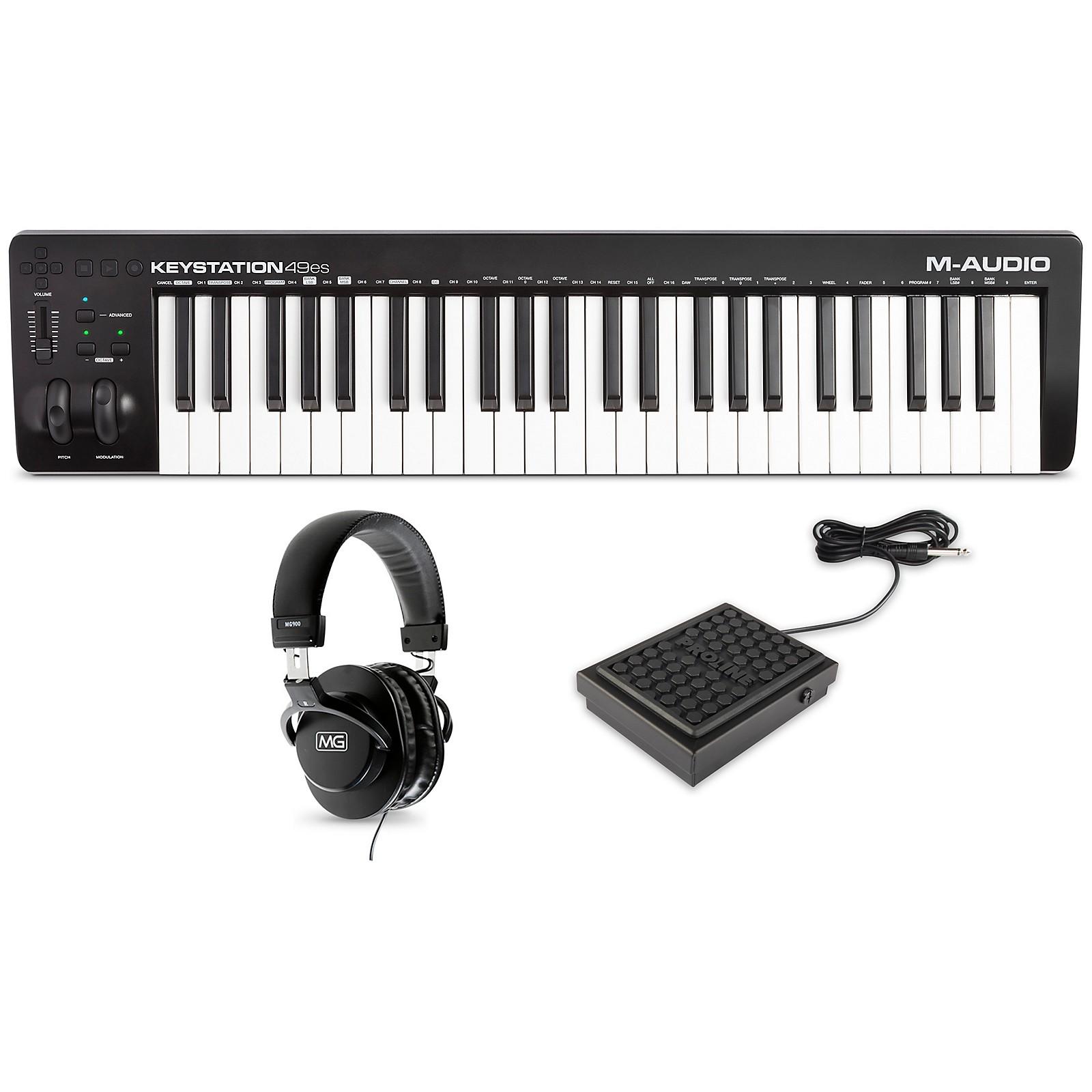 M-Audio Keystation 49es MK3 with Sustain Pedal and Headphones