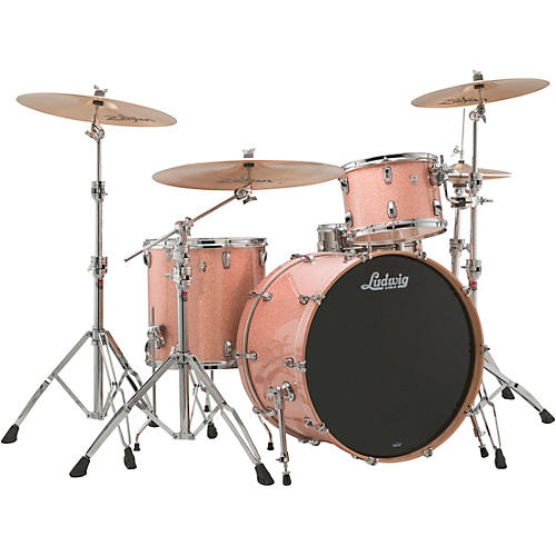 Ludwig Keystone X 3-Piece Pro Beat Shell Pack with 24 in. Bass Drum Champagne Sparkle