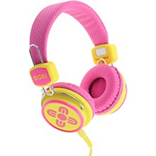 Kid Safe Volume Limited Headphones Pink/Yellow