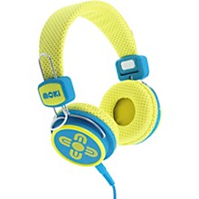 Kid Safe Volume Limited Headphones Yellow/Blue