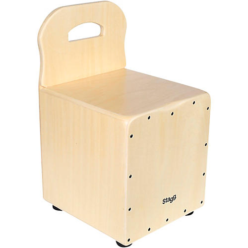 Stagg Kid's Cajon with Backrest Natural