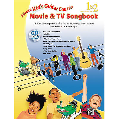 Alfred Kid's Guitar Course Movie & TV Songbook 1 & 2 (Book/CD)