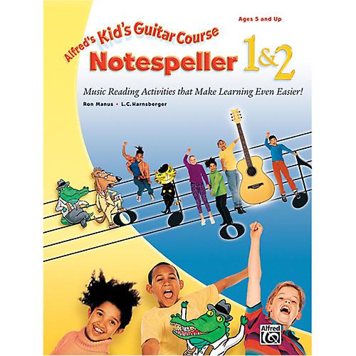 Alfred Kid's Guitar Course Notespeller 1 & 2 Book