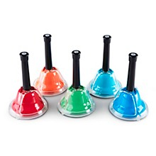 Rhythm Band Kid's Play 5-Note Chromatic Add-On Hand/Desk Bell Set