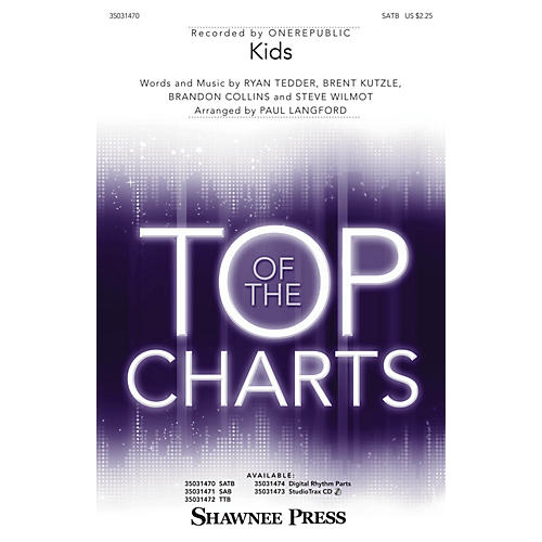Shawnee Press Kids SATB by One Republic arranged by Paul Langford