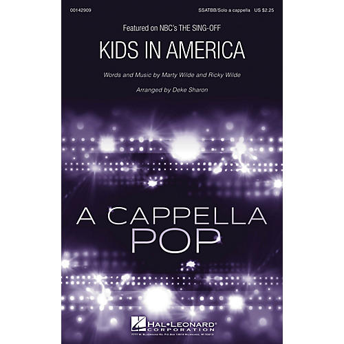 Hal Leonard Kids in America from The Sing-Off (SSATBB/Solo a cappella) arranged by Deke Sharon