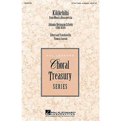 Hal Leonard Kikkehihi 3 Part Treble arranged by Thomas Juneau