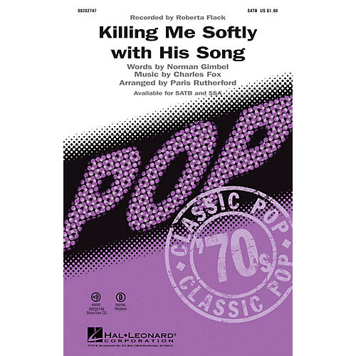 Hal Leonard Killing Me Softly with His Song SSA by Roberta Flack Arranged by Paris Rutherford