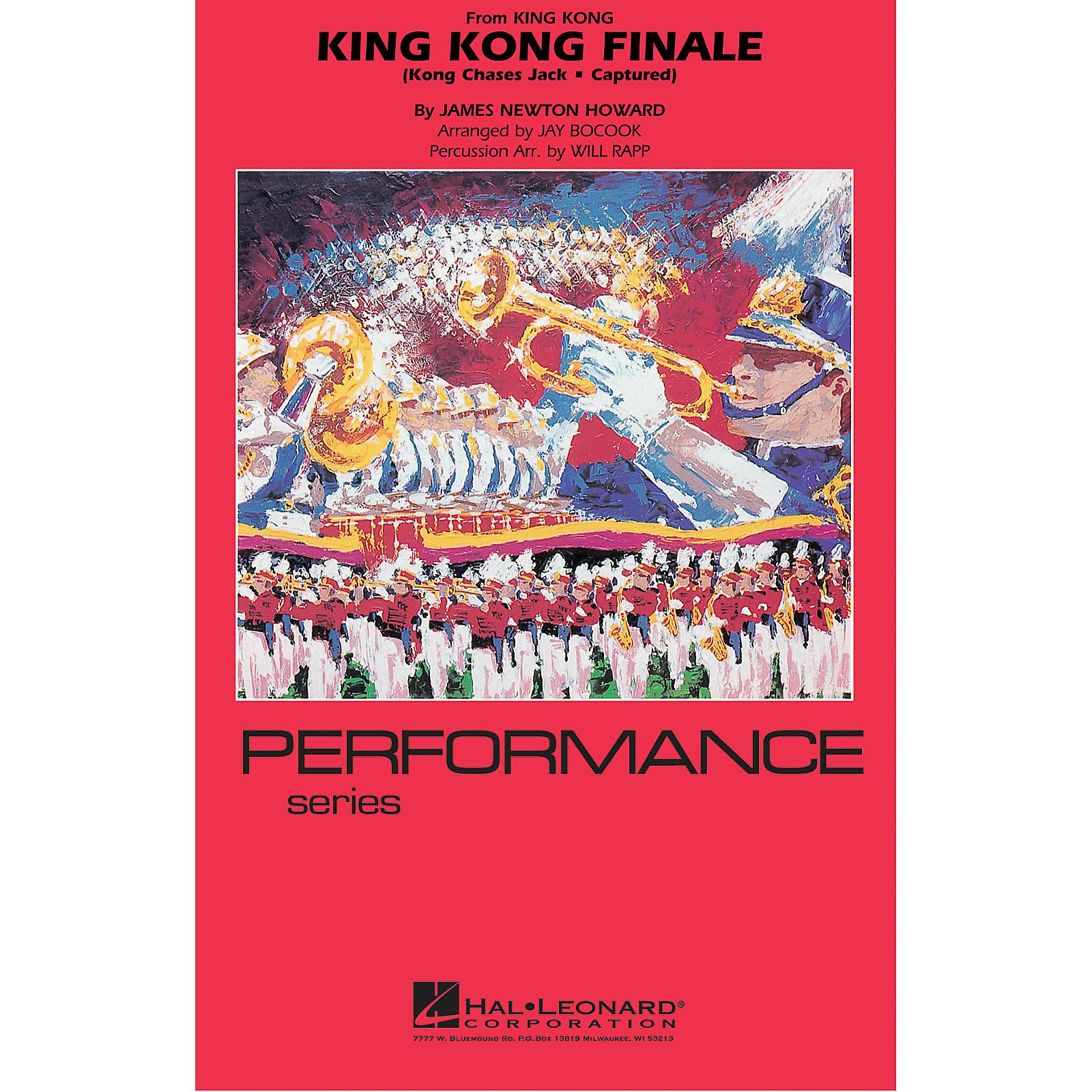 Hal Leonard King Kong Finale Marching Band Level 4 Arranged by Jay Bocook
