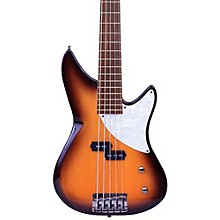 Kingston CRB 5-String Maple Fingerboard Electric Bass Guitar Tobacco Sunburst Rosewood Fingerboard
