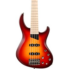 Kingston Saratoga Deluxe Maple Fingerboard 5-String Electric Bass Cherry Burst