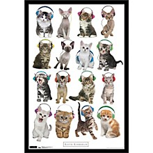 Trends International Kitten - Headphones Poster