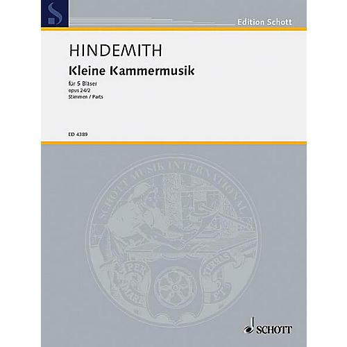 Schott Kleine Kammermusik, Op. 24, No. 2 (for 5 Woodwinds) Schott Series by Paul Hindemith