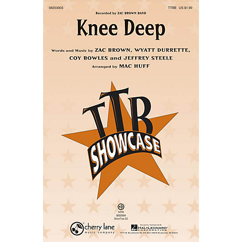 Hal Leonard Knee Deep ShowTrax CD by Zac Brown Band Arranged by Mac Huff