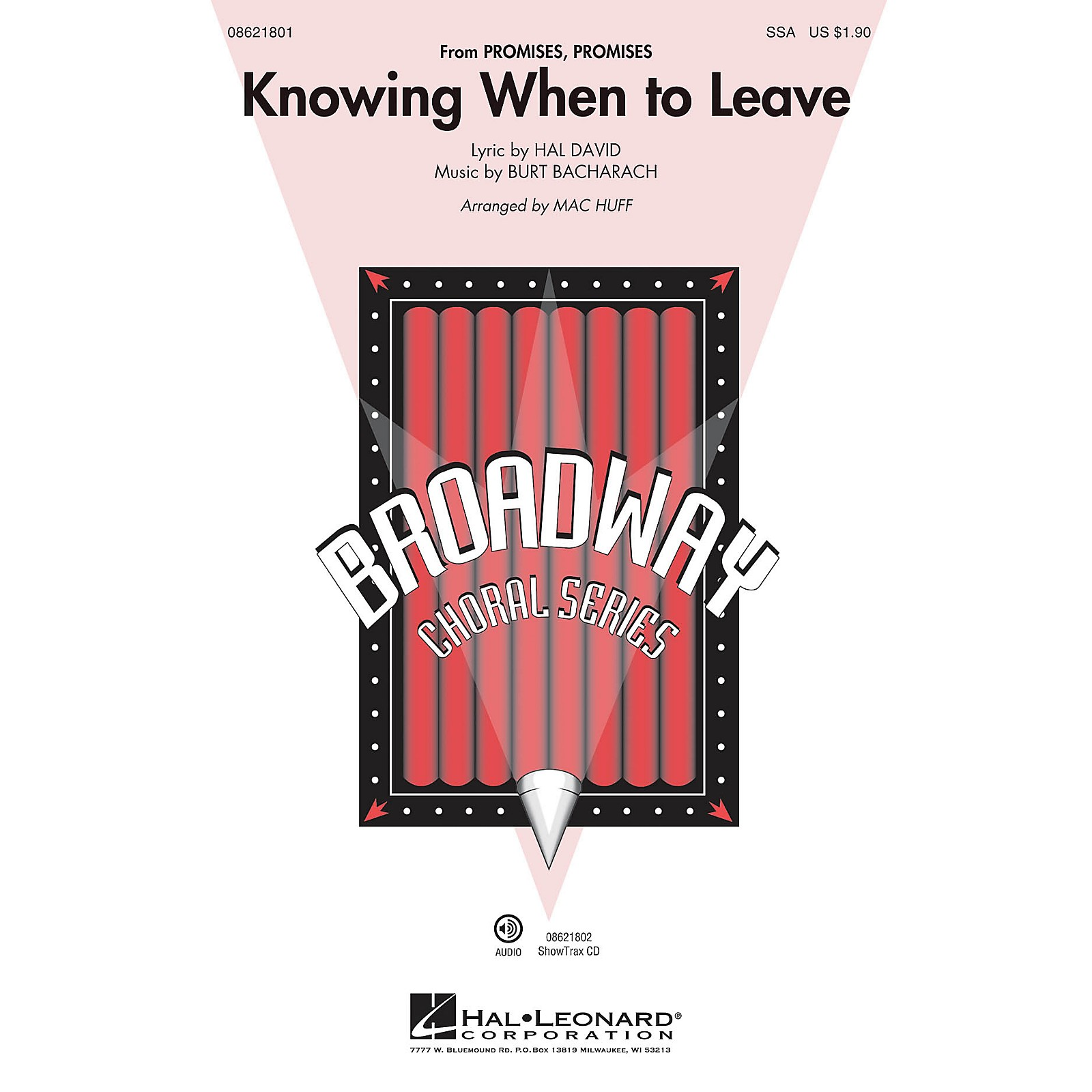 Hal Leonard Knowing When to Leave (from Promises, Promises) ShowTrax CD Arranged by Mac Huff