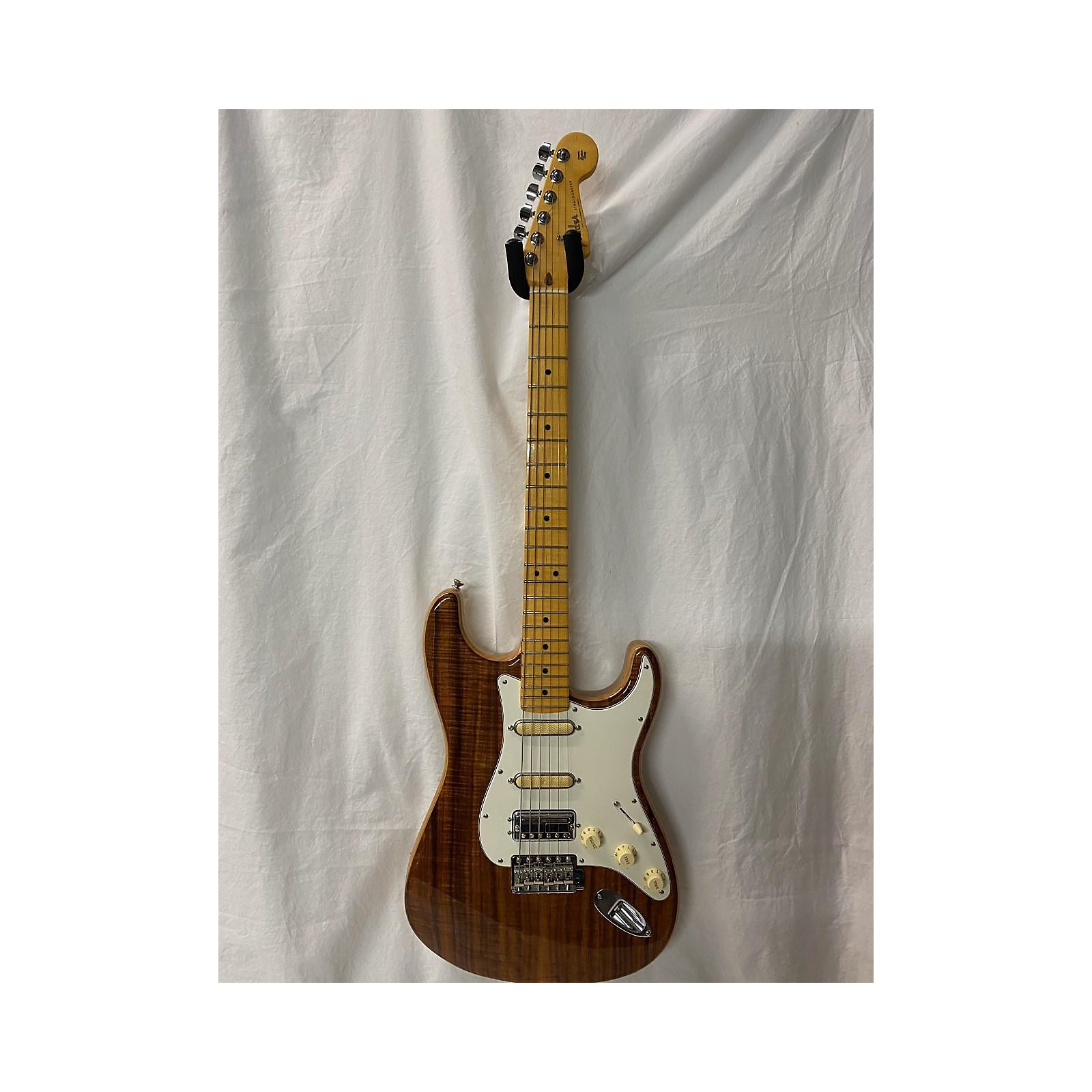 Fender Koa Flame Top Strat Solid Body Electric Guitar