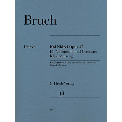 G. Henle Verlag Kol Nidrei, Op. 47 for Cello and Piano
