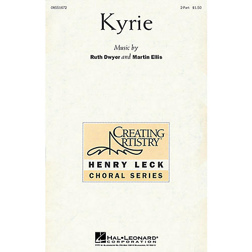 Hal Leonard Kyrie 2-Part composed by Martin Ellis