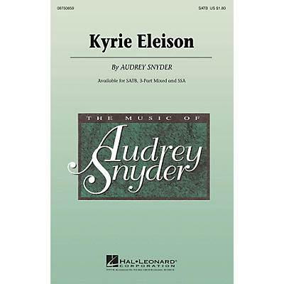 Hal Leonard Kyrie Eleison 3-Part Mixed Composed by Audrey Snyder
