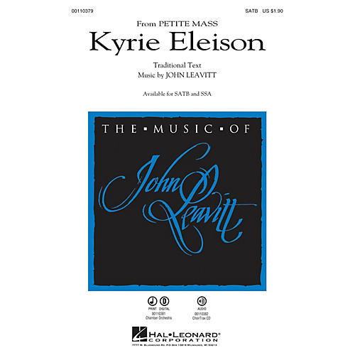 Hal Leonard Kyrie Eleison (from Petite Mass) CHOIRTRAX CD Composed by John Leavitt