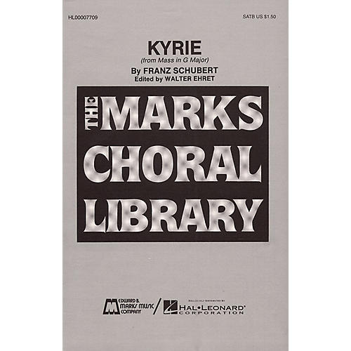 Edward B. Marks Music Company Kyrie SATB composed by Franz Schubert