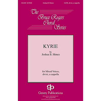 Gentry Publications Kyrie SSATB A Cappella composed by Joshua B. Himes