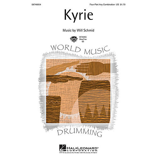 Hal Leonard Kyrie ShowTrax CD Composed by Will Schmid