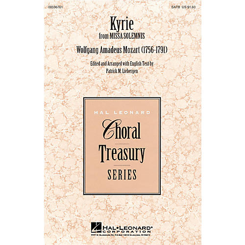 Hal Leonard Kyrie (from Missa Solemnis) SATB arranged by Patrick M. Liebergen