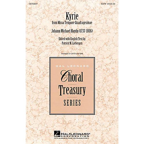 Hal Leonard Kyrie (from Missa Tempore Quadragesimae) SATB arranged by Patrick Liebergen