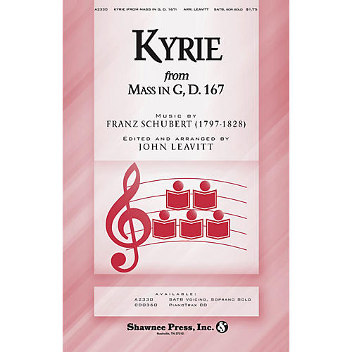 Shawnee Press Kyrie (from Schubert's Mass in G) SATB composed by Franz Schubert