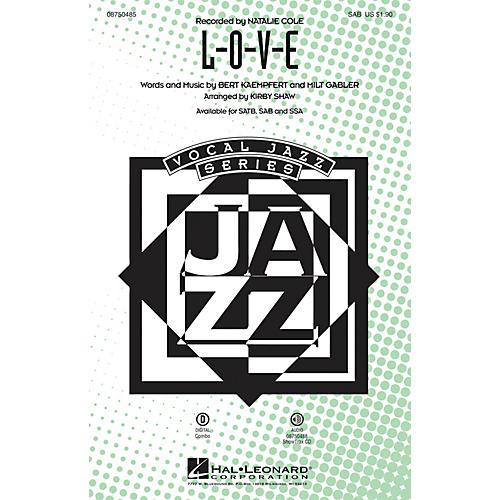 Hal Leonard L-O-V-E SAB arranged by Kirby Shaw