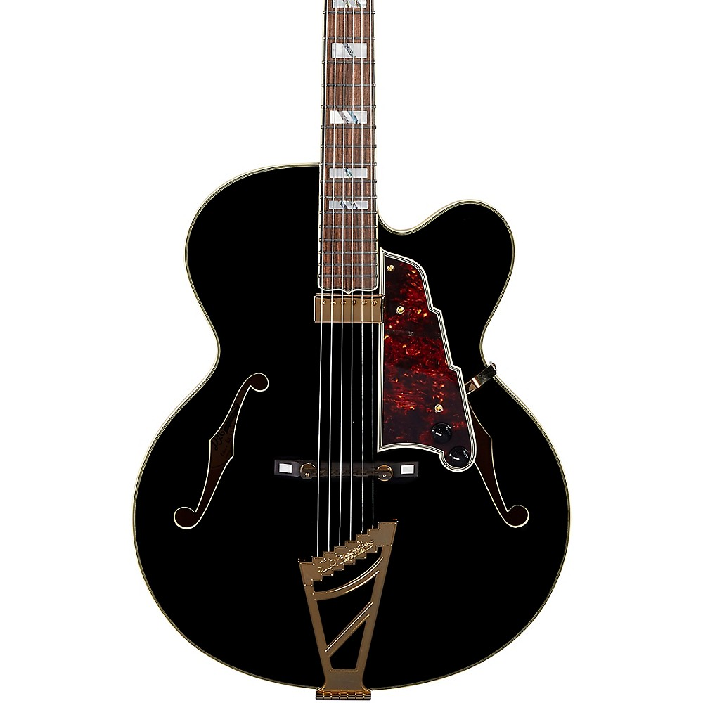 D'angelico Excel Exl-1 Hollowbody Electric Guitar With Stairstep Tailpiece Black