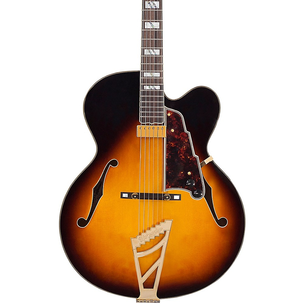 D'angelico Excel Exl-1 Hollowbody Electric Guitar With Stairstep Tailpiece Vintage Sunburst